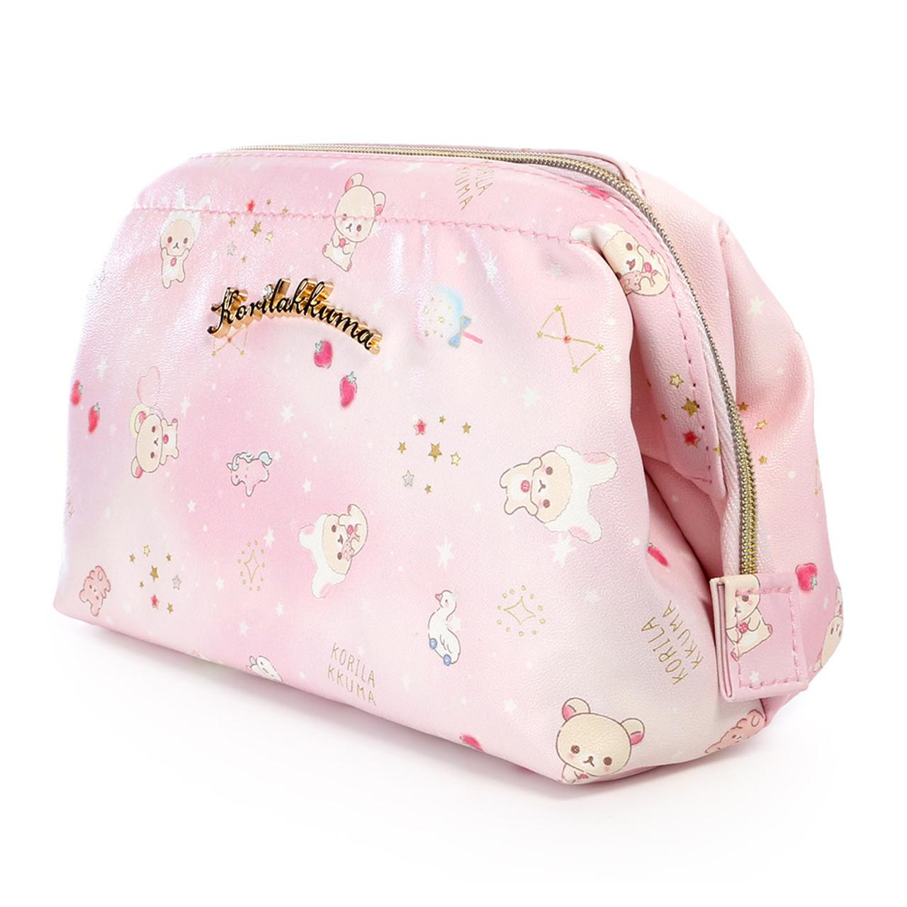 Korilakkuma Pink Fantasty Dream Cosmetic Bag ( Side View )