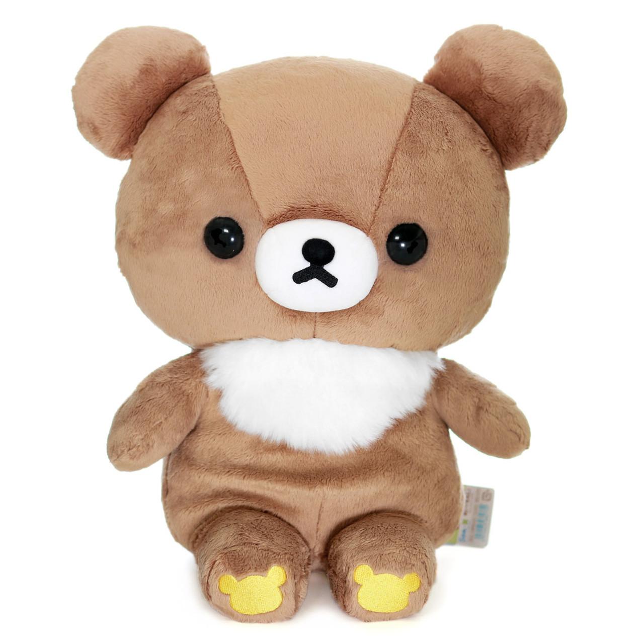 San-x Cute Sweet Chairoikoguma Bear Stuffed Animal Toy L MR94401 ( Front View )