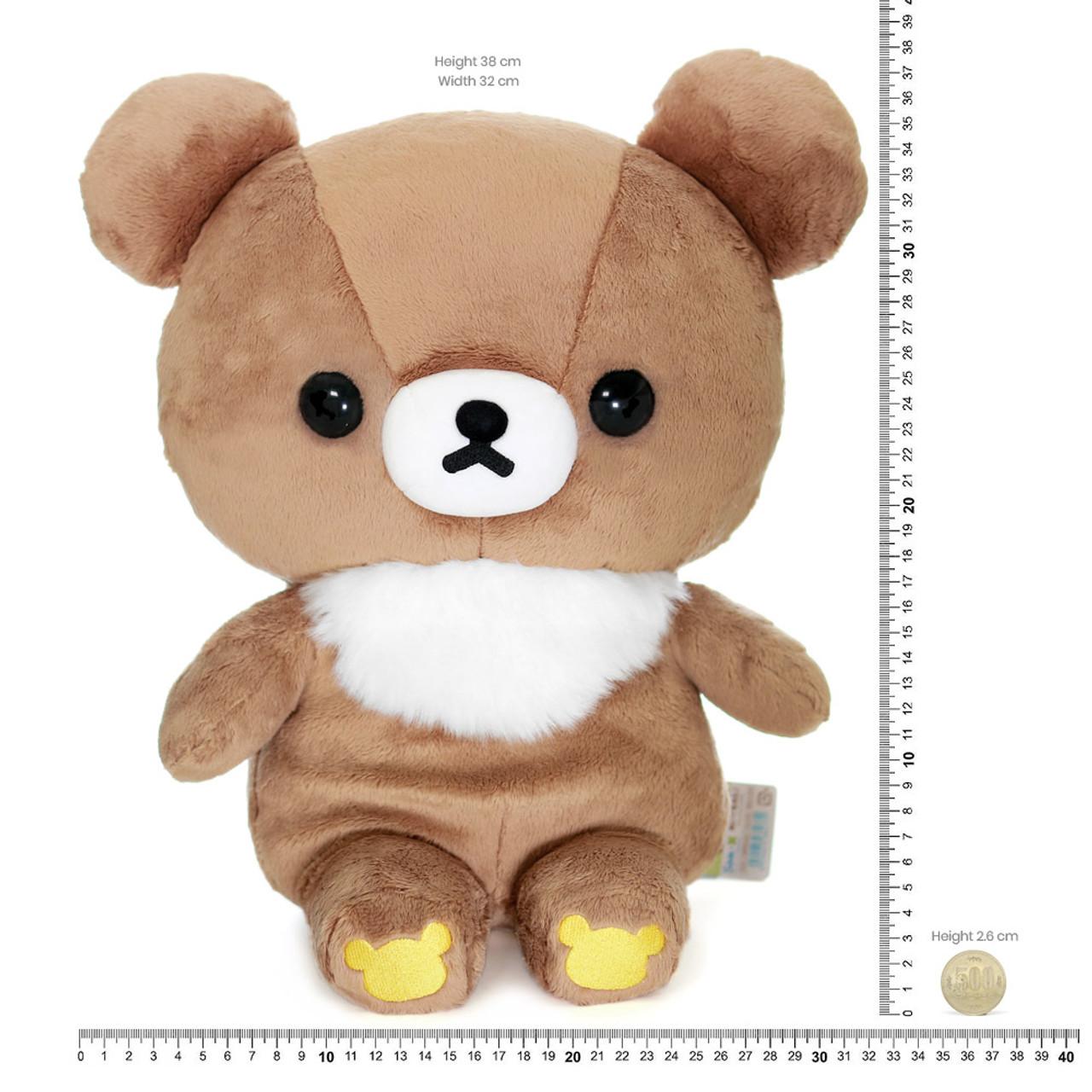 San-x Cute Sweet Chairoikoguma Bear Stuffed Animal Toy L MR94401 ( Proportion )