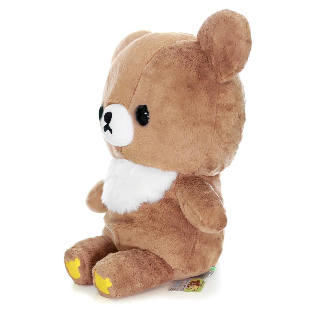 San-x Cute Sweet Chairoikoguma Bear Stuffed Animal Toy L MR94401 ( Side View )