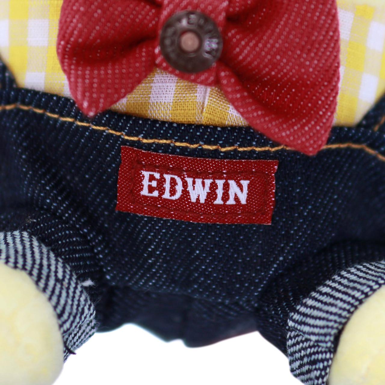 Sanrio PomPomPurin x Edwin Denim Dungarees Stuffed Animal Toy ( Edwin Close-up )