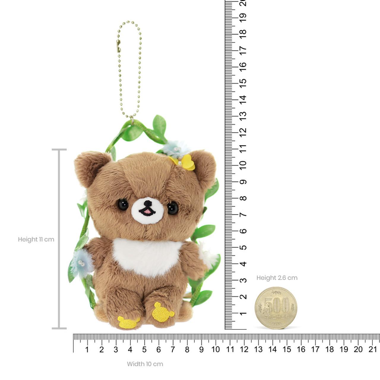 Cute Chairoikoguma Vine Swing Plush Keychain Charm ( Proportion )