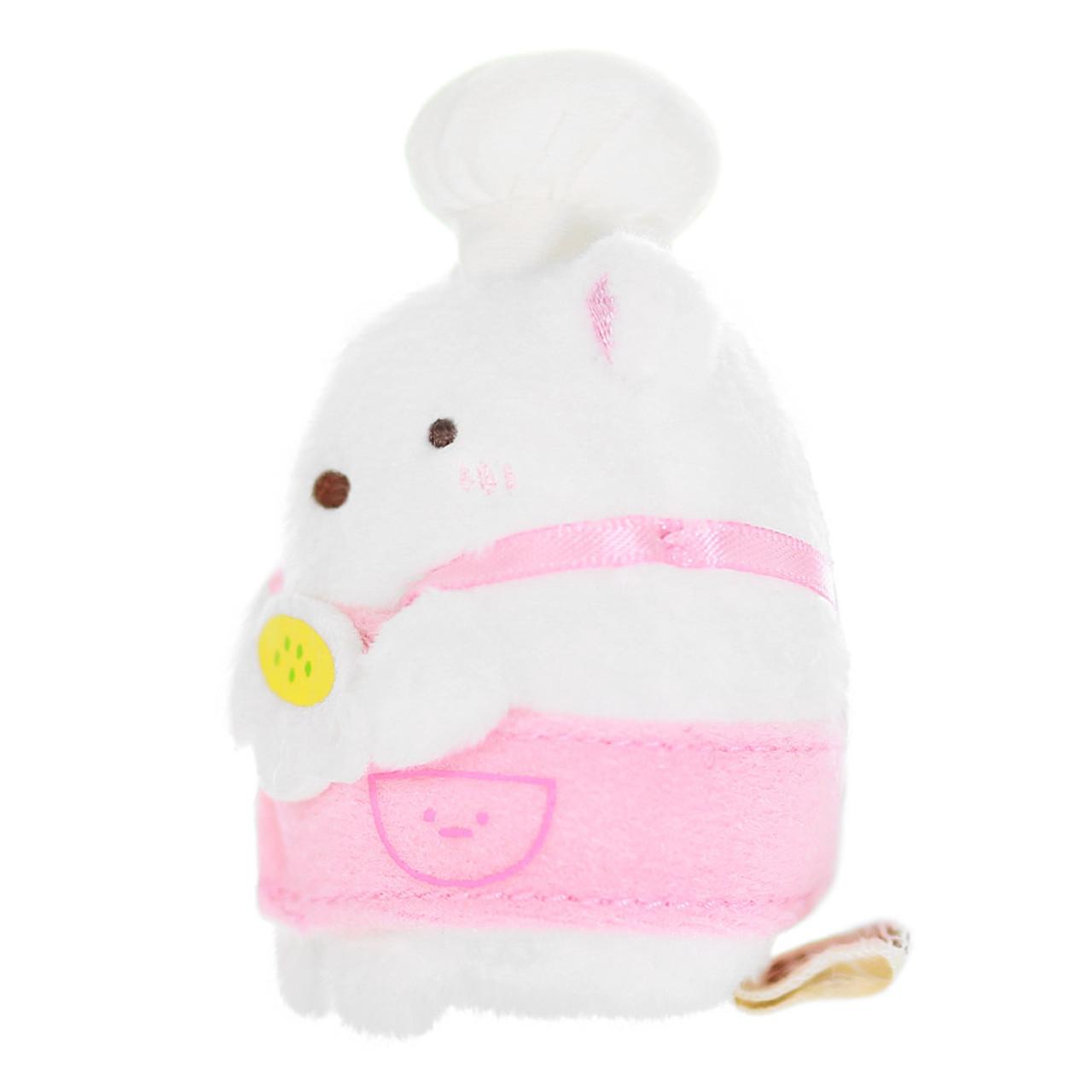Sumikko Gurashi Polar Bear Palm Stuffed Animal - Chef ( Side View )