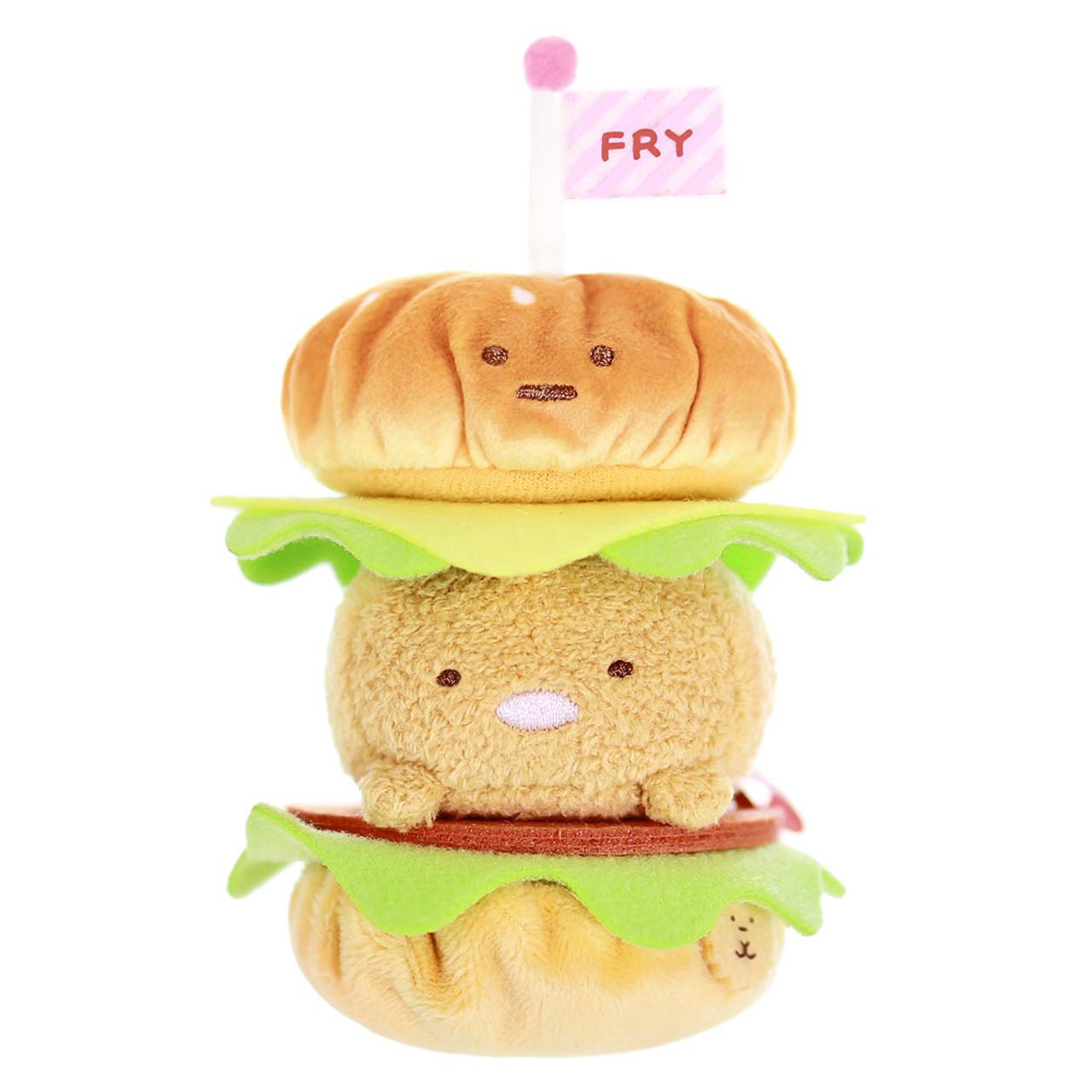 Sumikko Gurashi Hamburger Palm Size Stuffed Toy ( Front View )