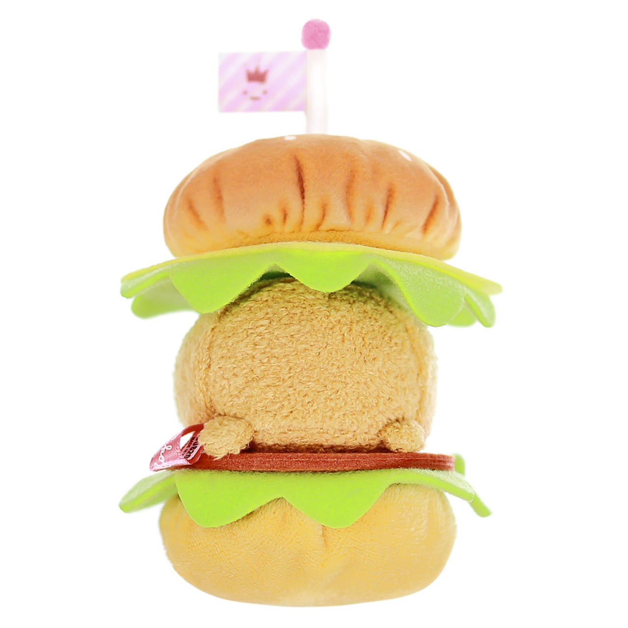 Sumikko Gurashi Hamburger Palm Size Stuffed Toy ( Back View )