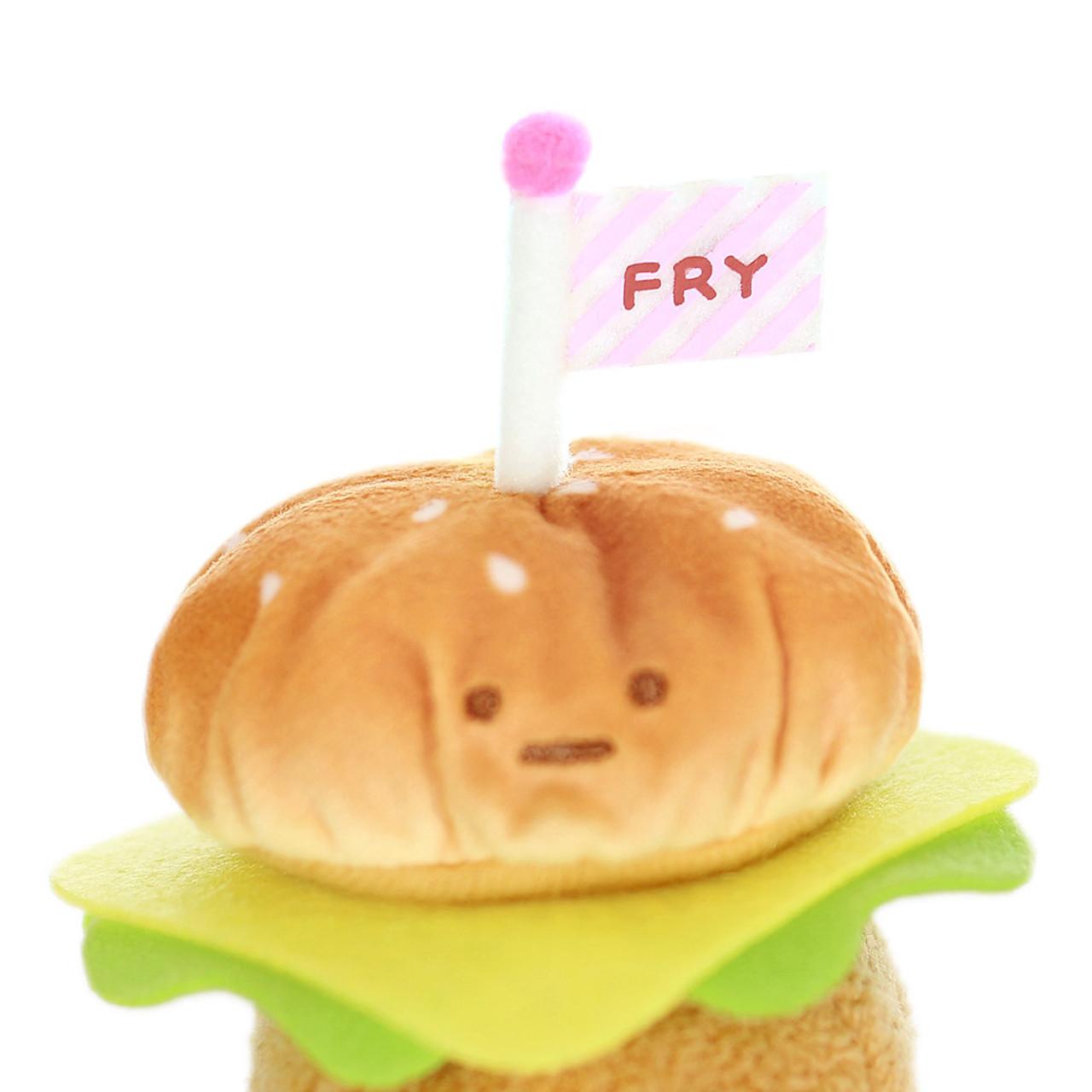 Sumikko Gurashi Hamburger Palm Size Stuffed Toy ( Close-up )