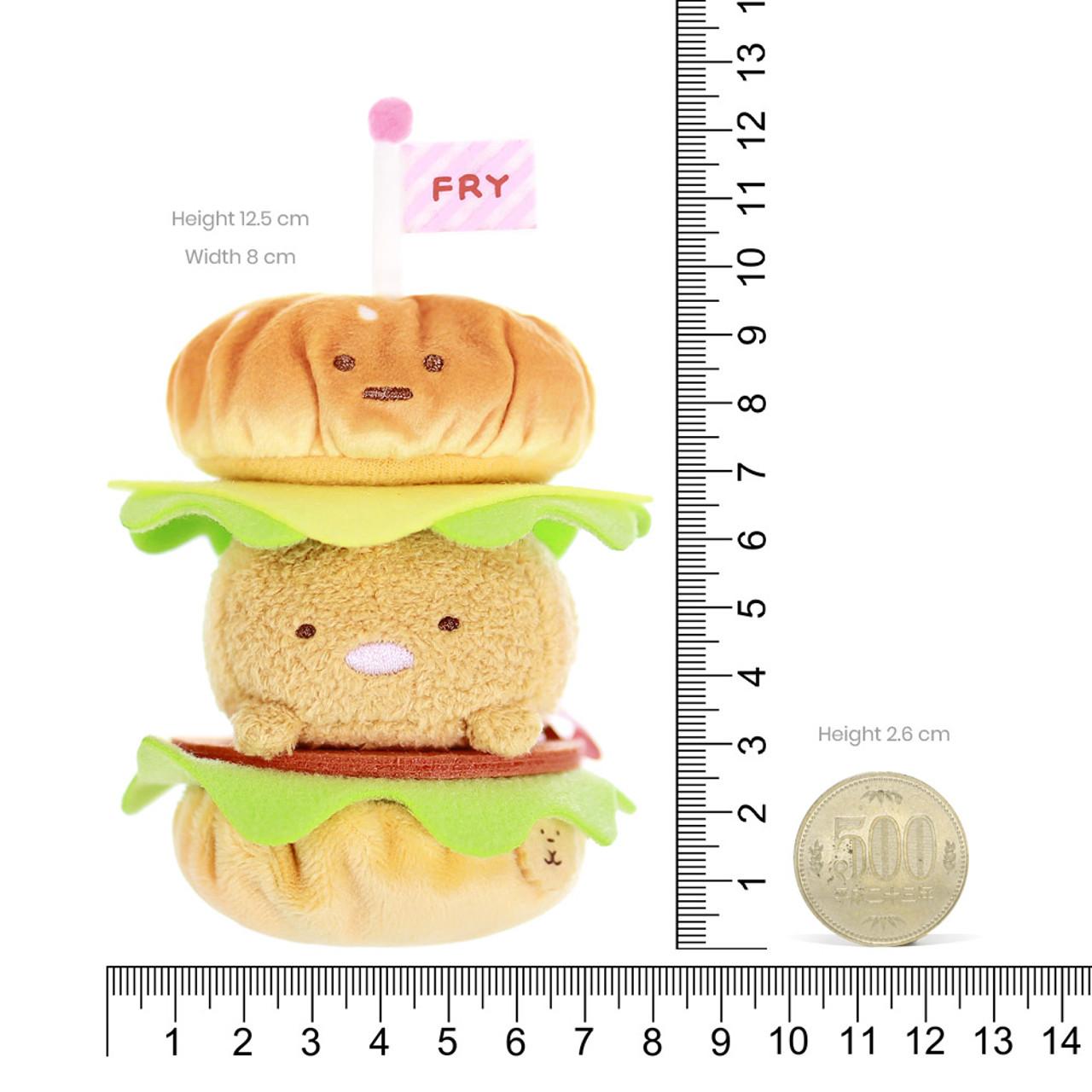 Sumikko Gurashi Hamburger Palm Size Stuffed Toy ( Proportion )