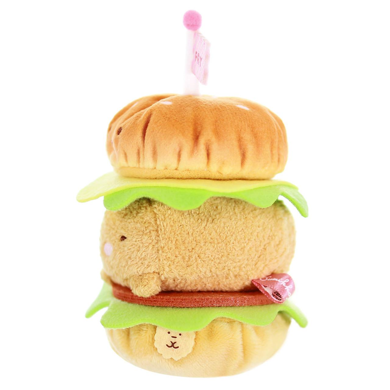 Sumikko Gurashi Hamburger Palm Size Stuffed Toy ( Side View )