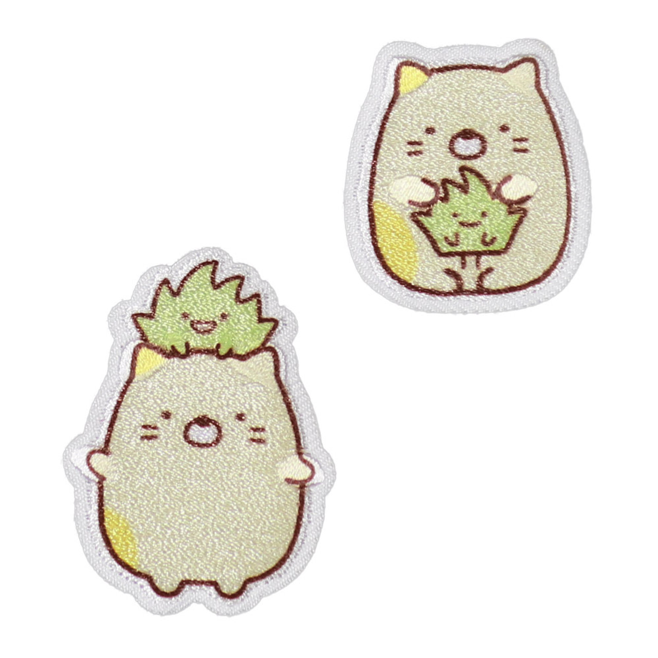 Sumikko Gurashi Iron On Patch Two Neko Cat PSU138 ( Front View )