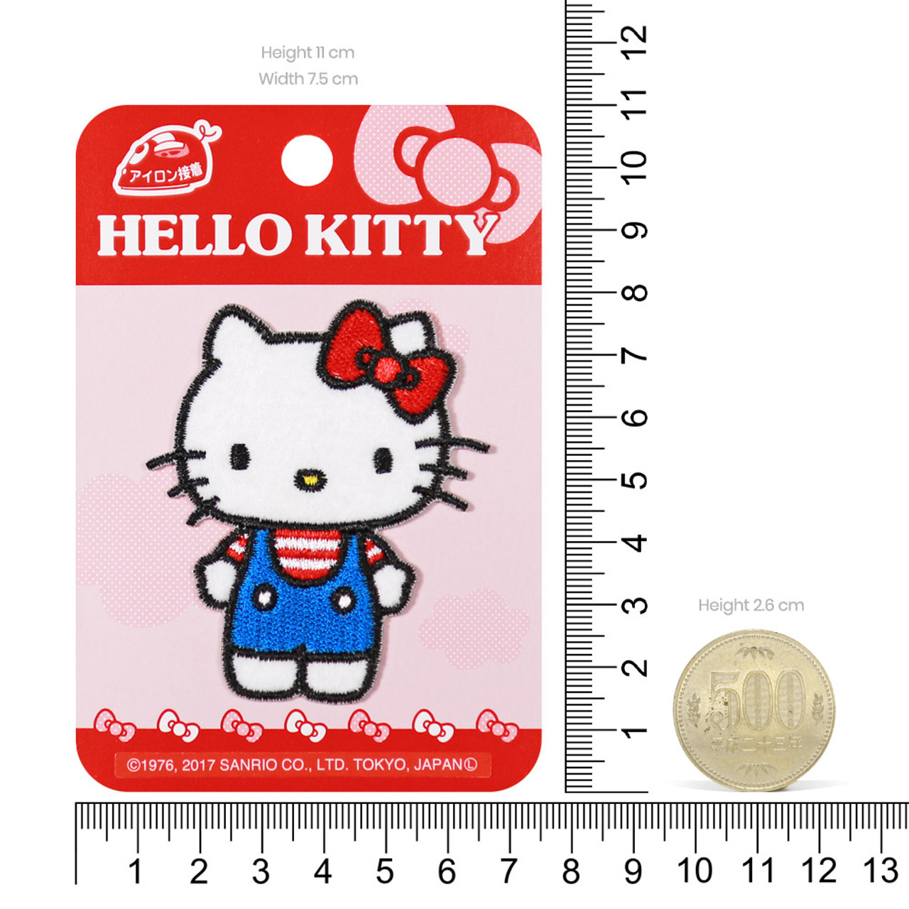 Sanrio Hello Kitty Iron On Patch BC13 ( Proportion )