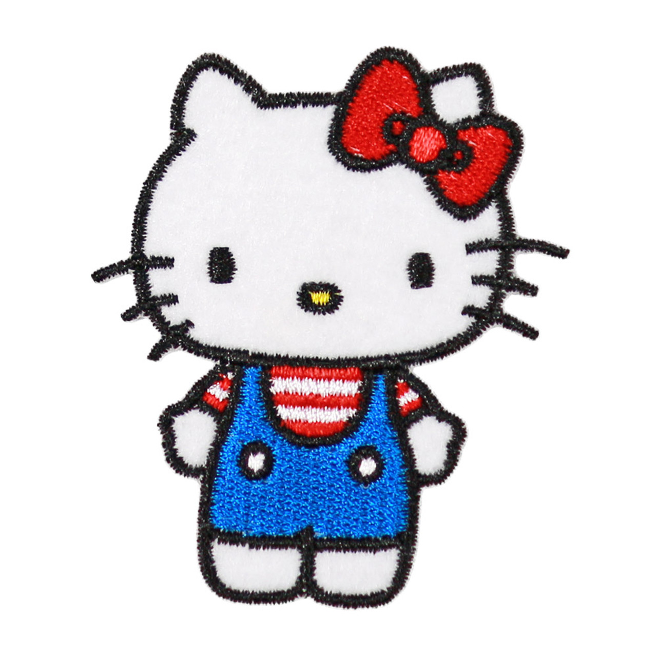Sanrio Hello Kitty Iron On Patch BC13 ( Front View )