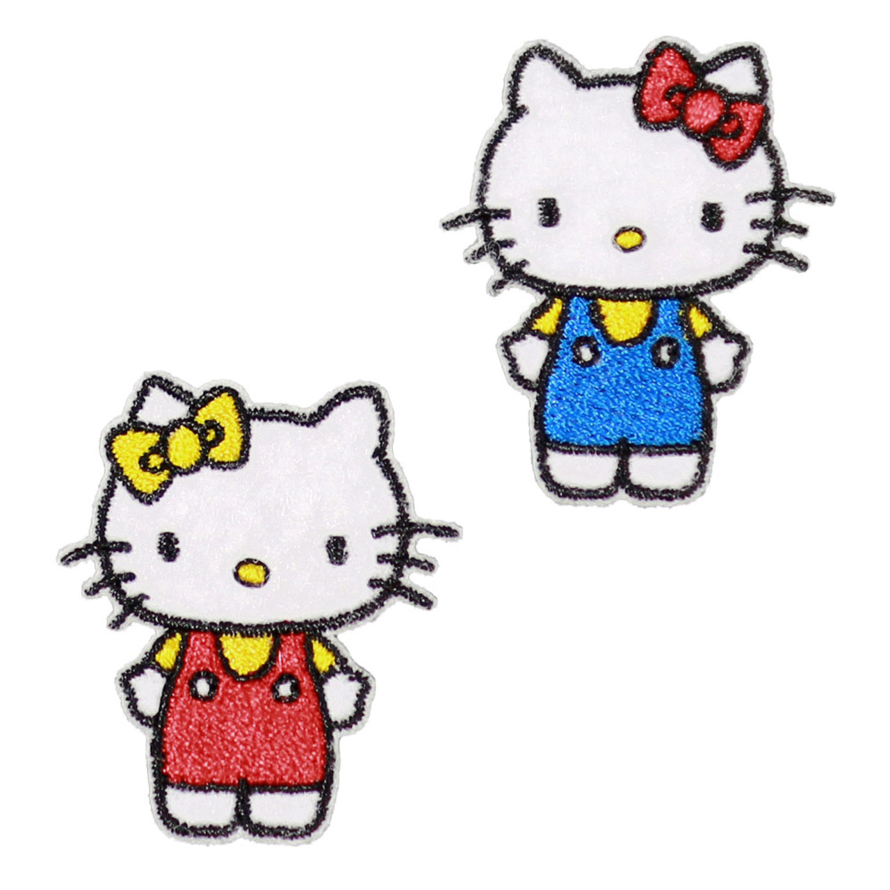 Sanrio Double Hello Kitty Iron On Patch BC17 ( Front View )
