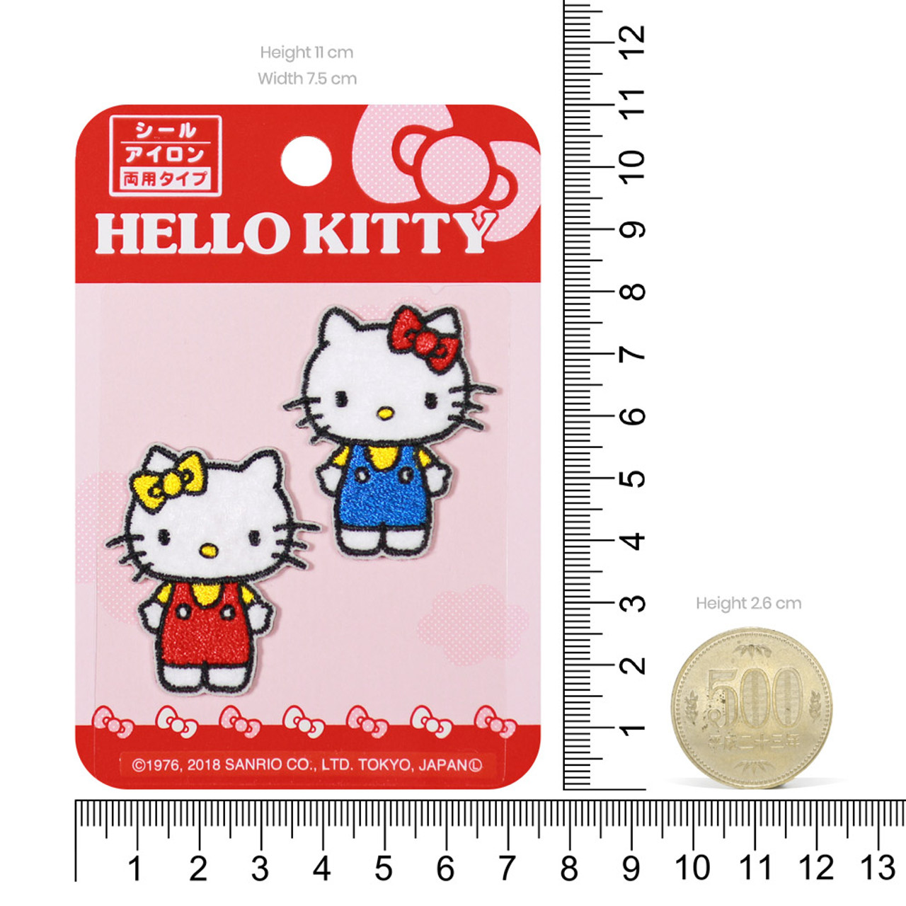 Sanrio Double Hello Kitty Iron On Patch BC17 ( Proportion )