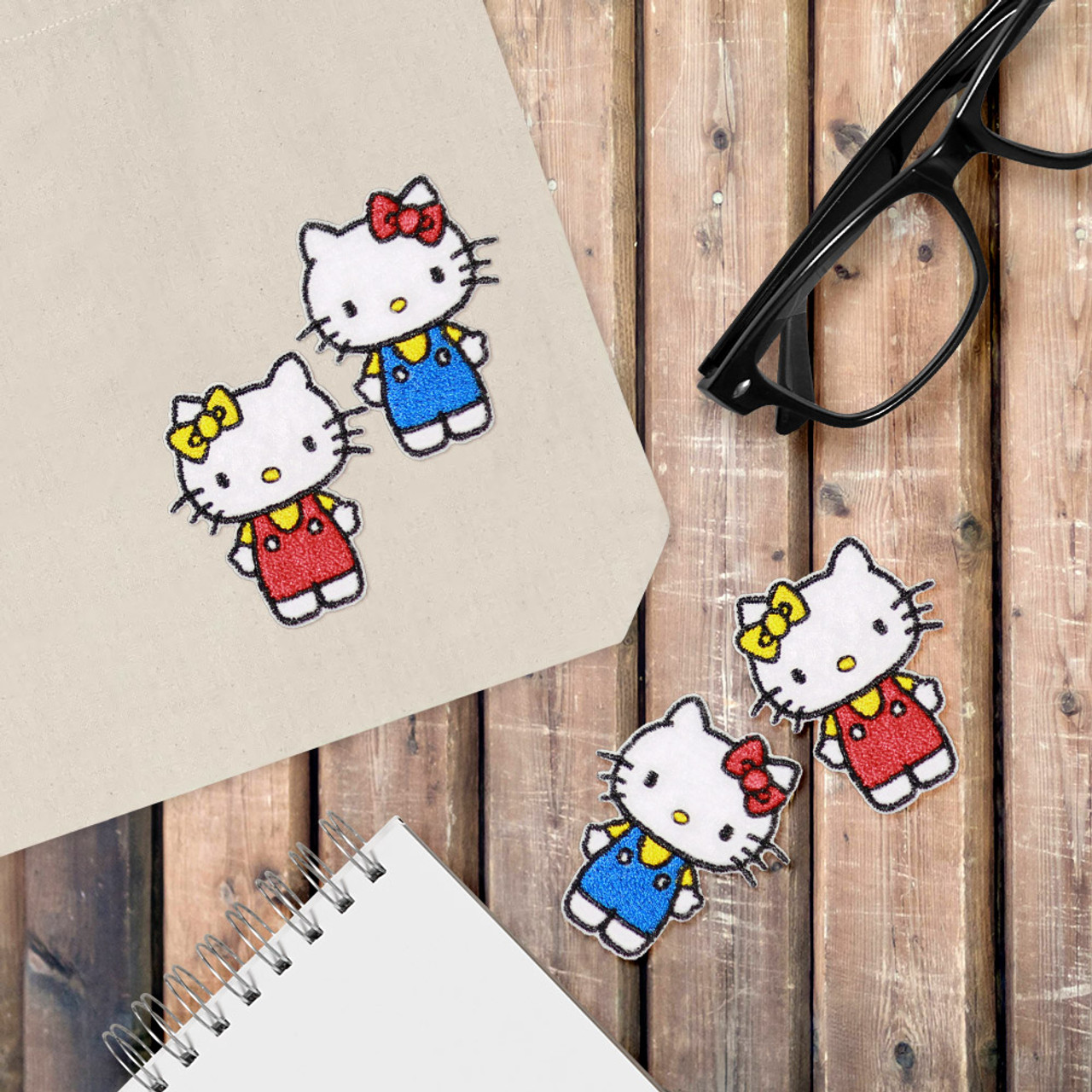 Sanrio Double Hello Kitty Iron On Patch BC17 ( Cover Image )