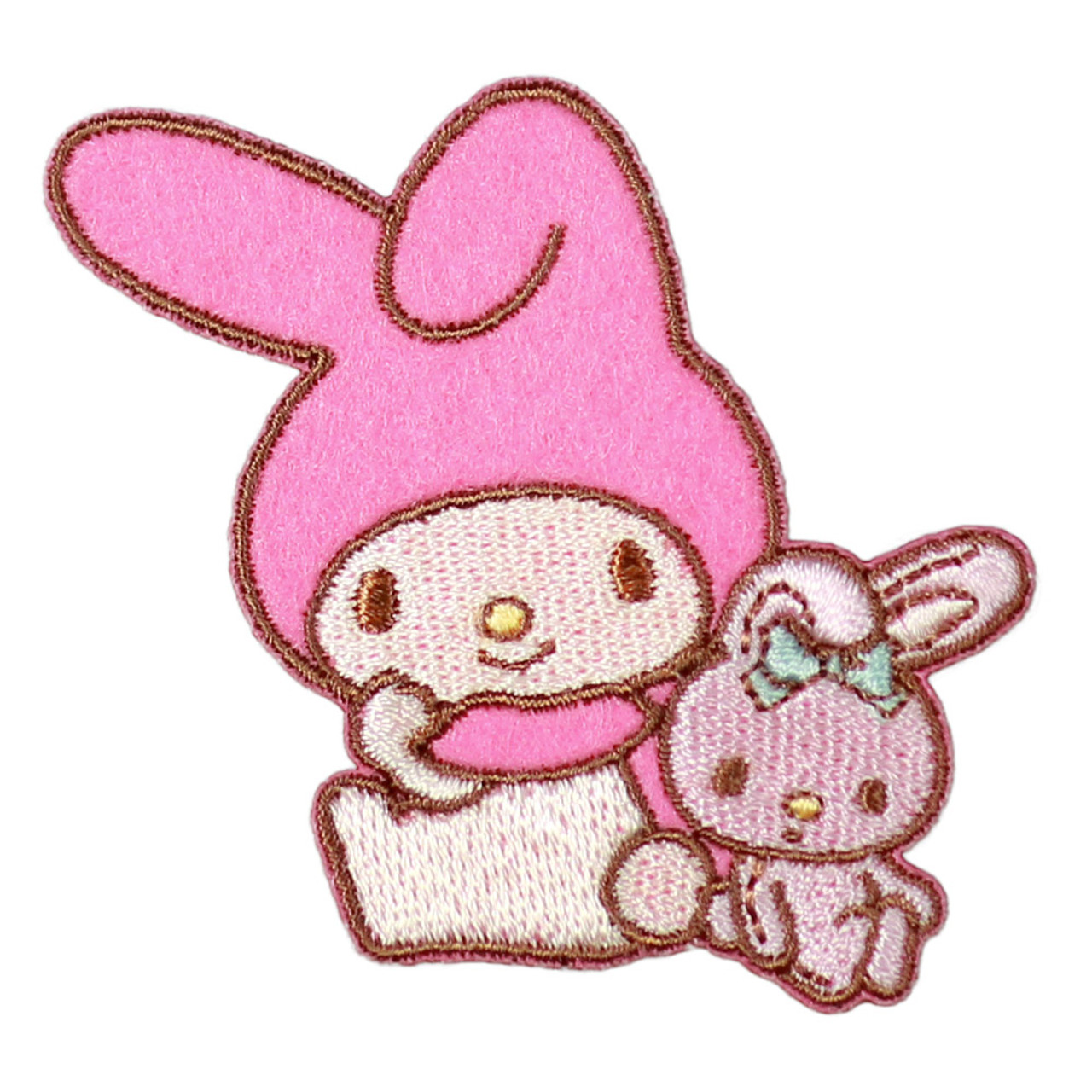 Sanrio My Melody Iron On Patch - Rely On Rabbit BC14 ( Front View )