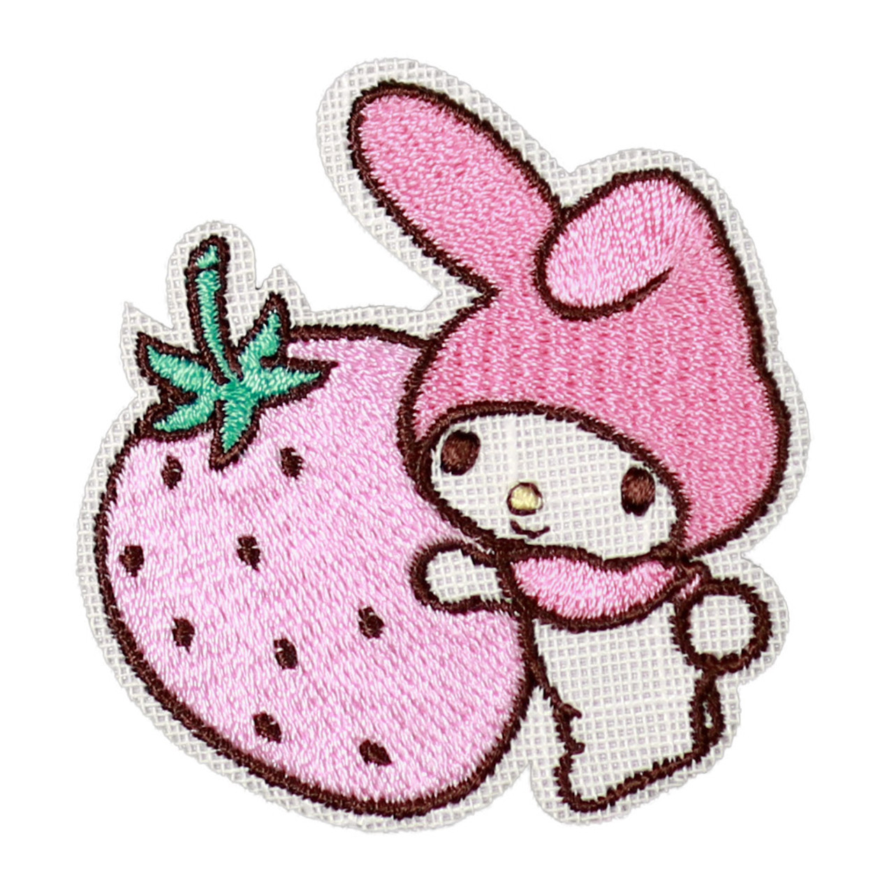 Sanrio My Melody Iron On Patch - Hug Strawberry KNS03 ( Front View )