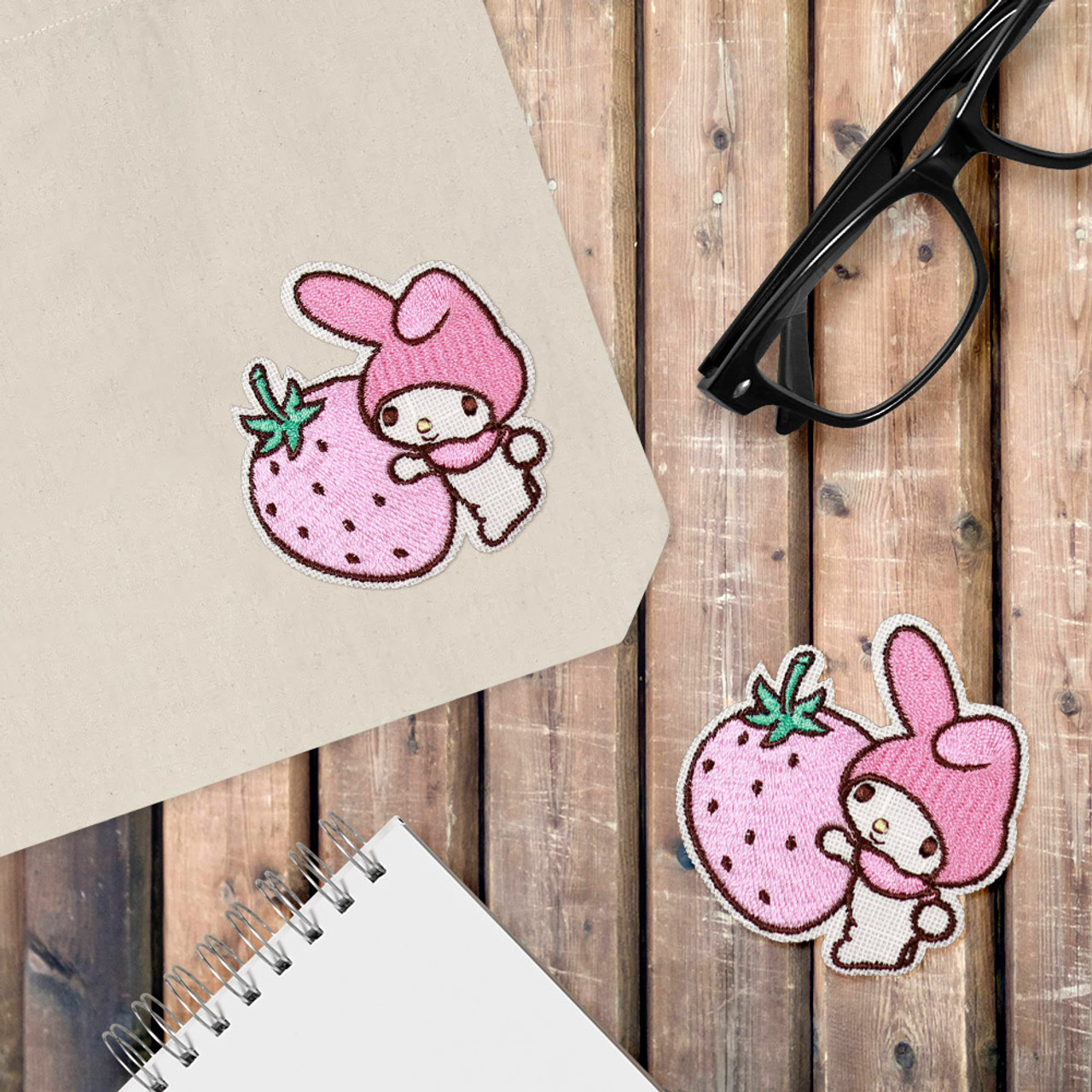 Sanrio My Melody Iron On Patch - Hug Strawberry KNS03 ( Cover Image )