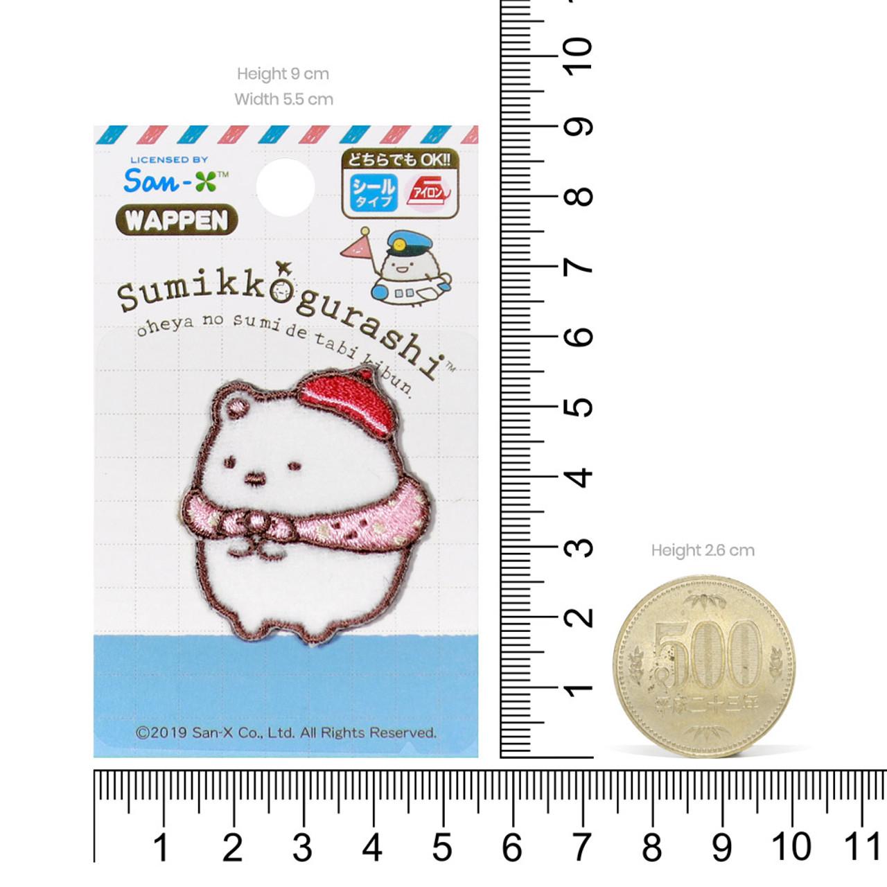 Sumikko Gurashi Iron On Patch Travel Polar Bear PSU106 ( Proportion )