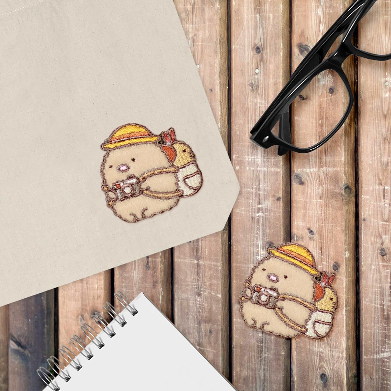 Sumikko Gurashi Iron On Patch Pork Cutlet Being Backpacker PSU108 ( Cover Image )