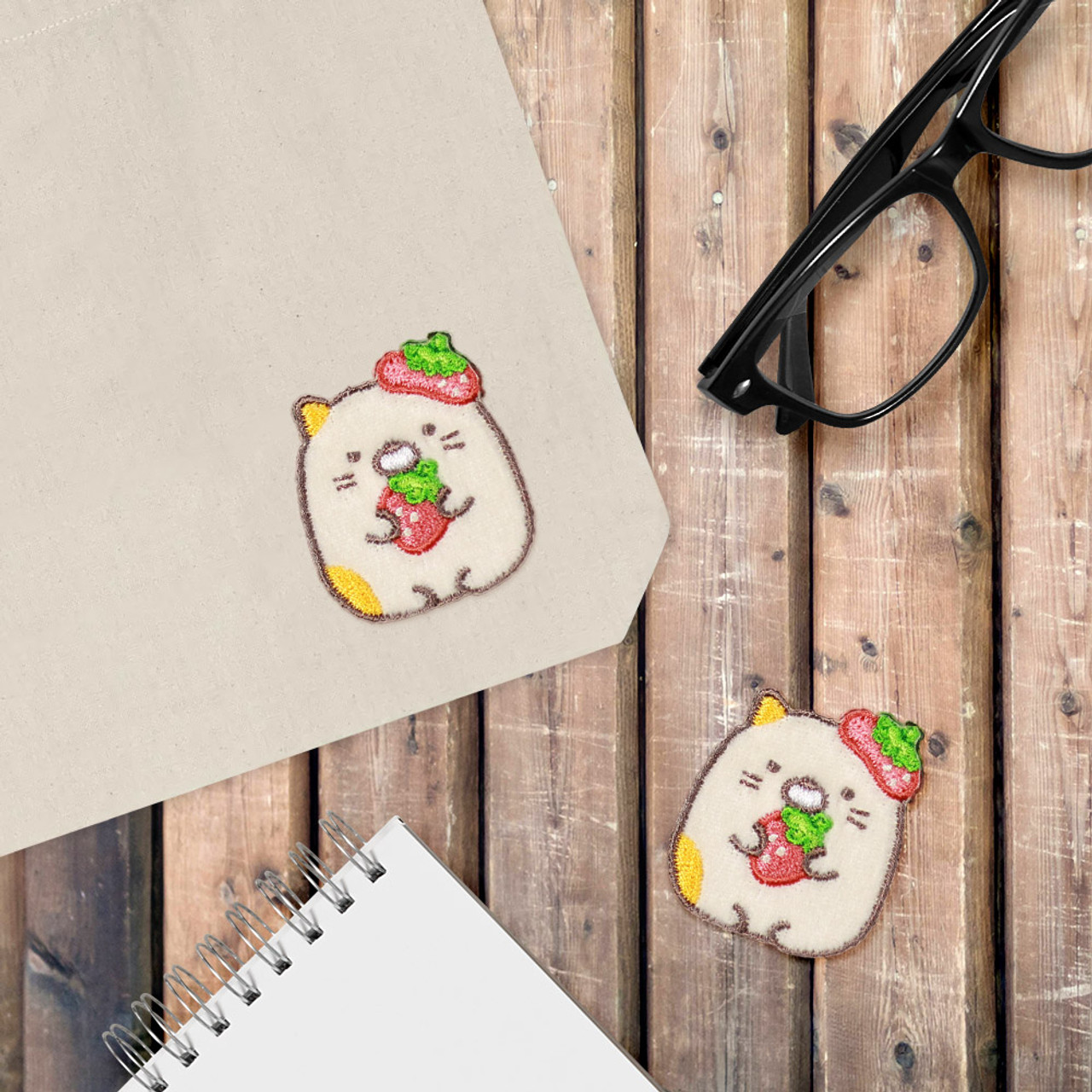 Sumikko Gurashi Iron On Patch Strawberry Neko Cat PSU132 ( Cover Image )