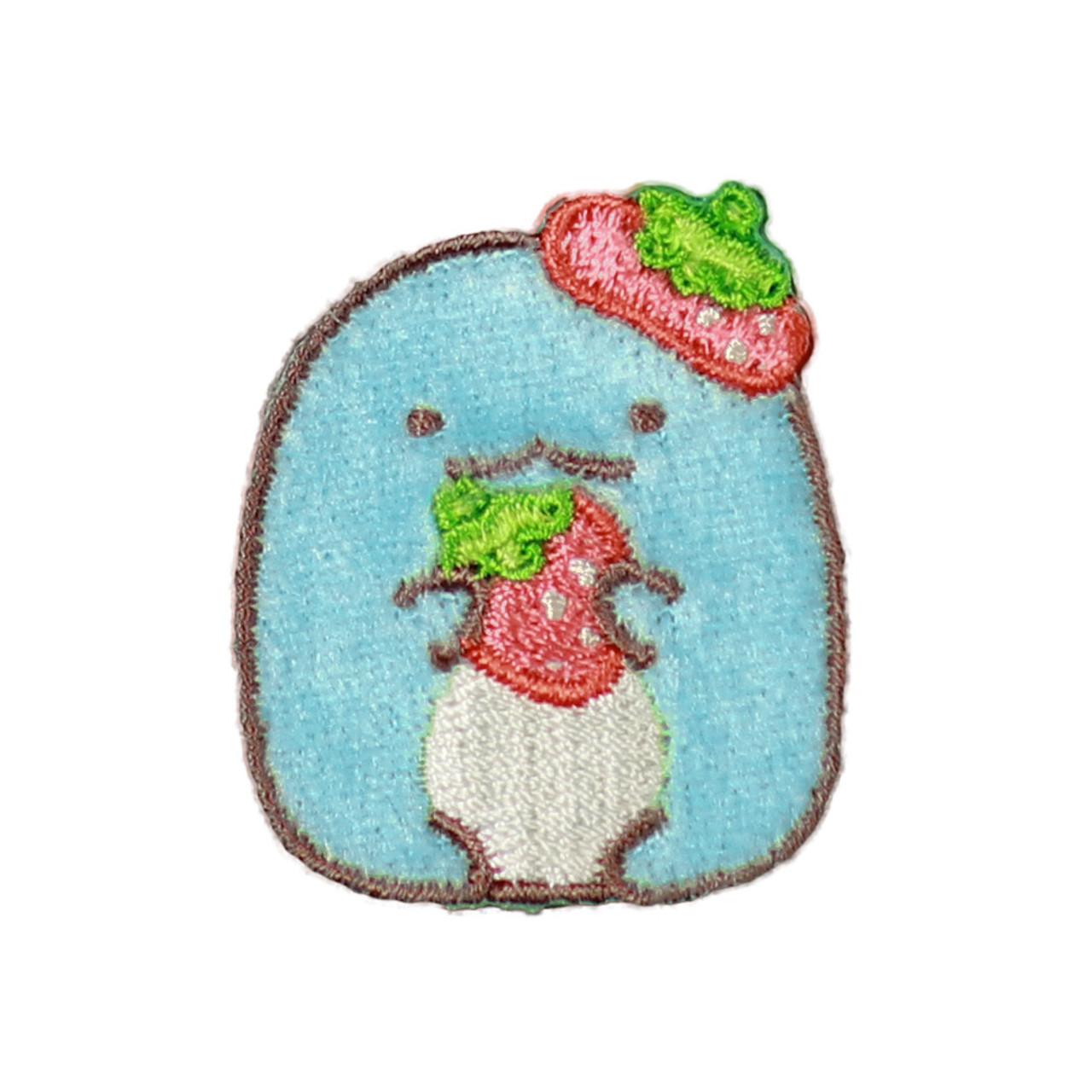 Sumikko Gurashi Iron On Patch Strawberry Dinosaur PSU133 ( Front View )