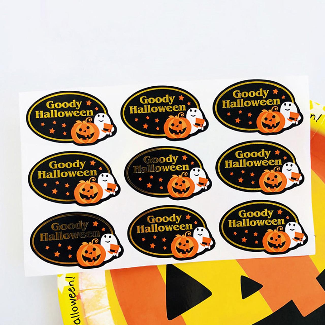 Kawaii Goody Halloween Hot Foil Stamping Sticker 4 Sheet ( Mood Shot )