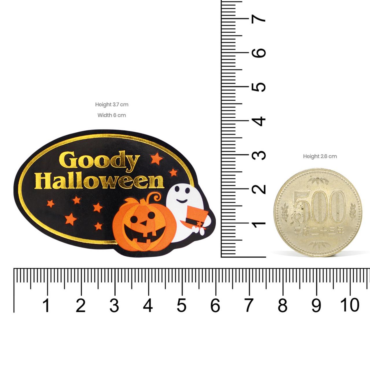 Kawaii Goody Halloween Hot Foil Stamping Sticker 4 Sheet ( Proportion )