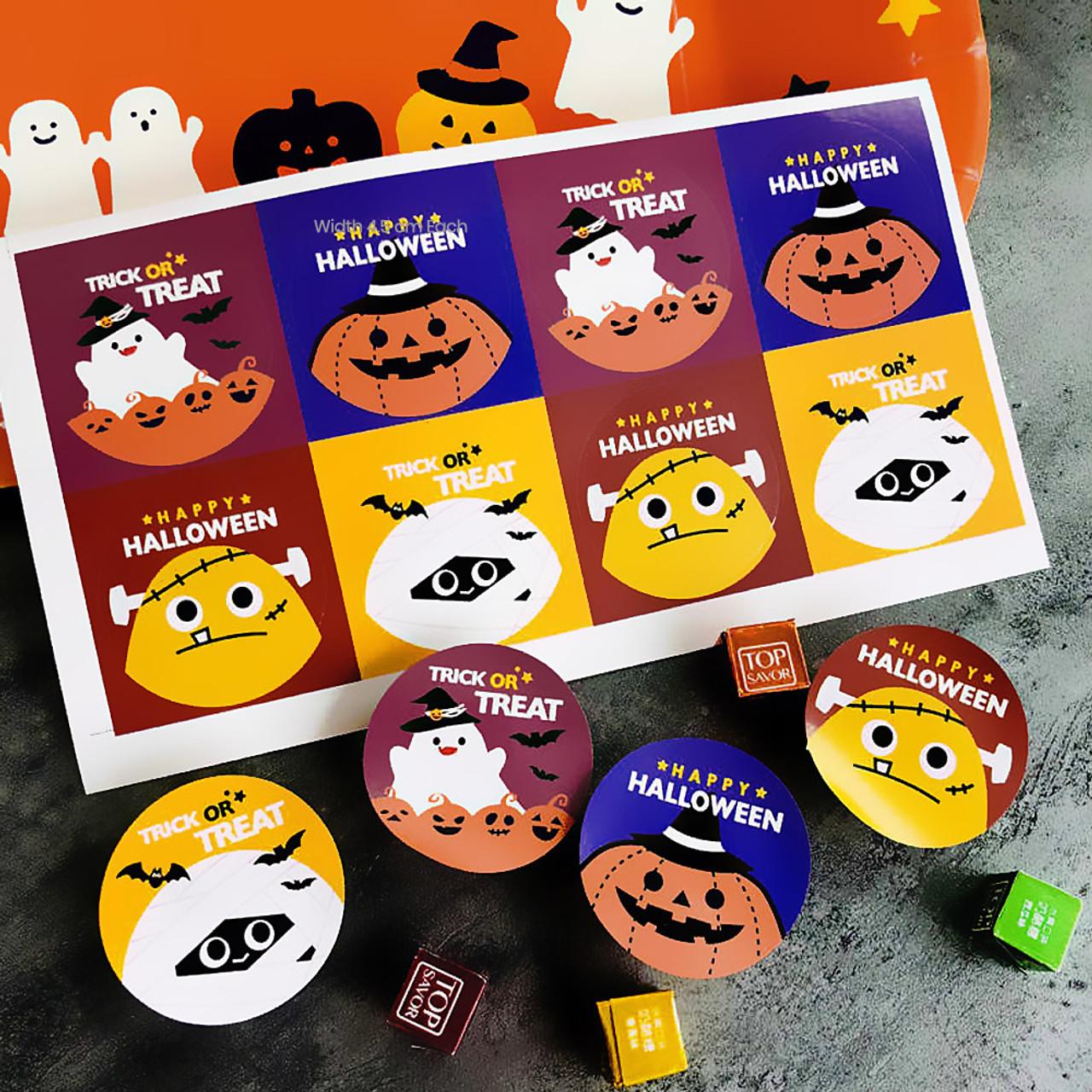 Kawaii Happy Halloween Characters Sticker 4 Sheet ( Mood Shot )