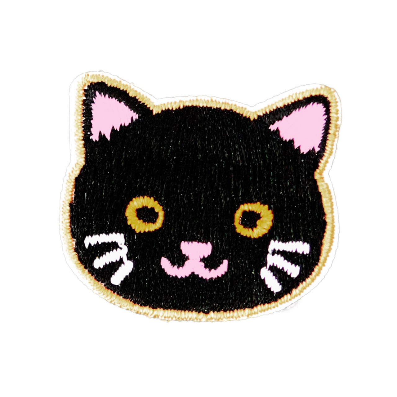 Cats Family Black Cat Iron On Patch ( Front View )
