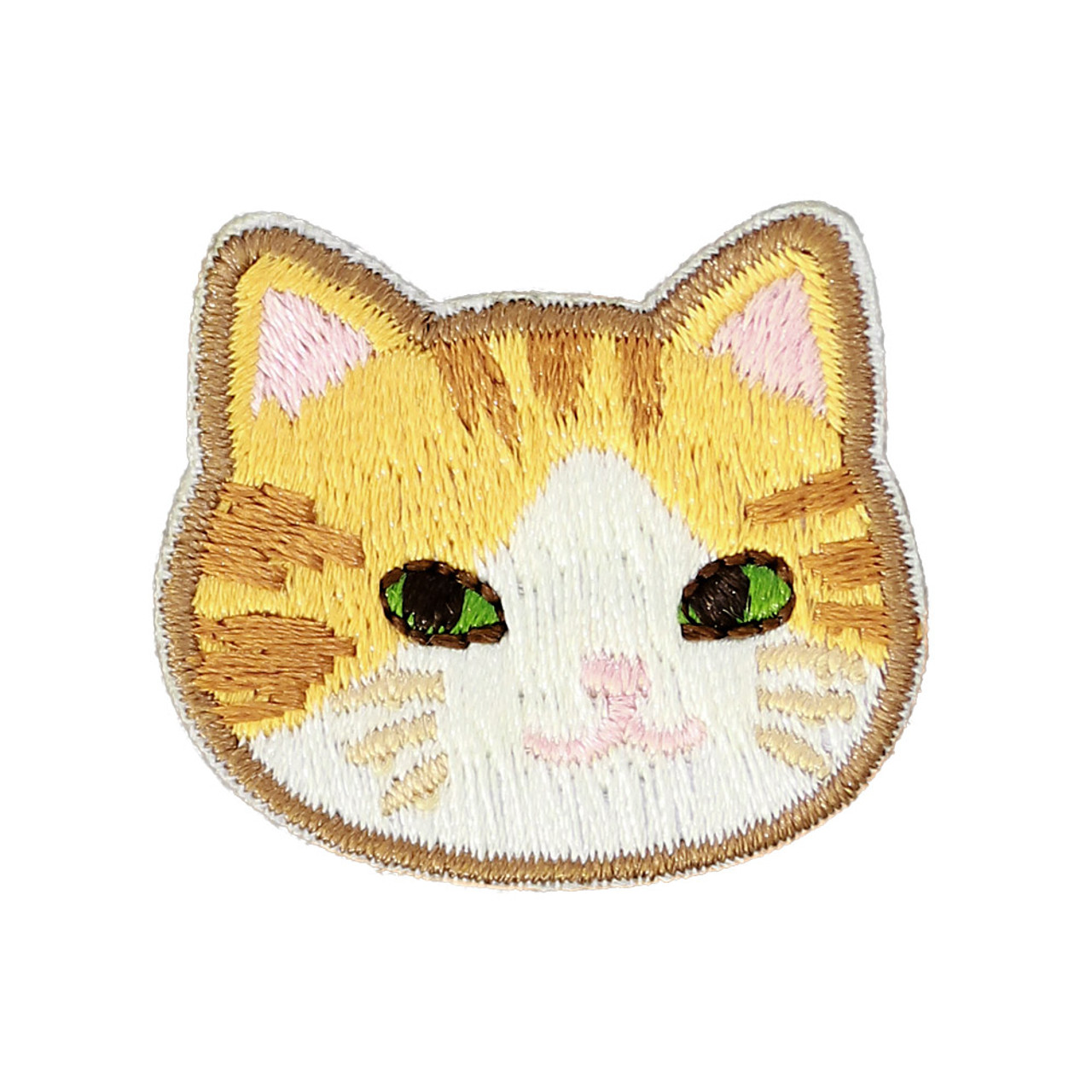 Cats Family Tabby Cat Iron On Patch ( Front View )