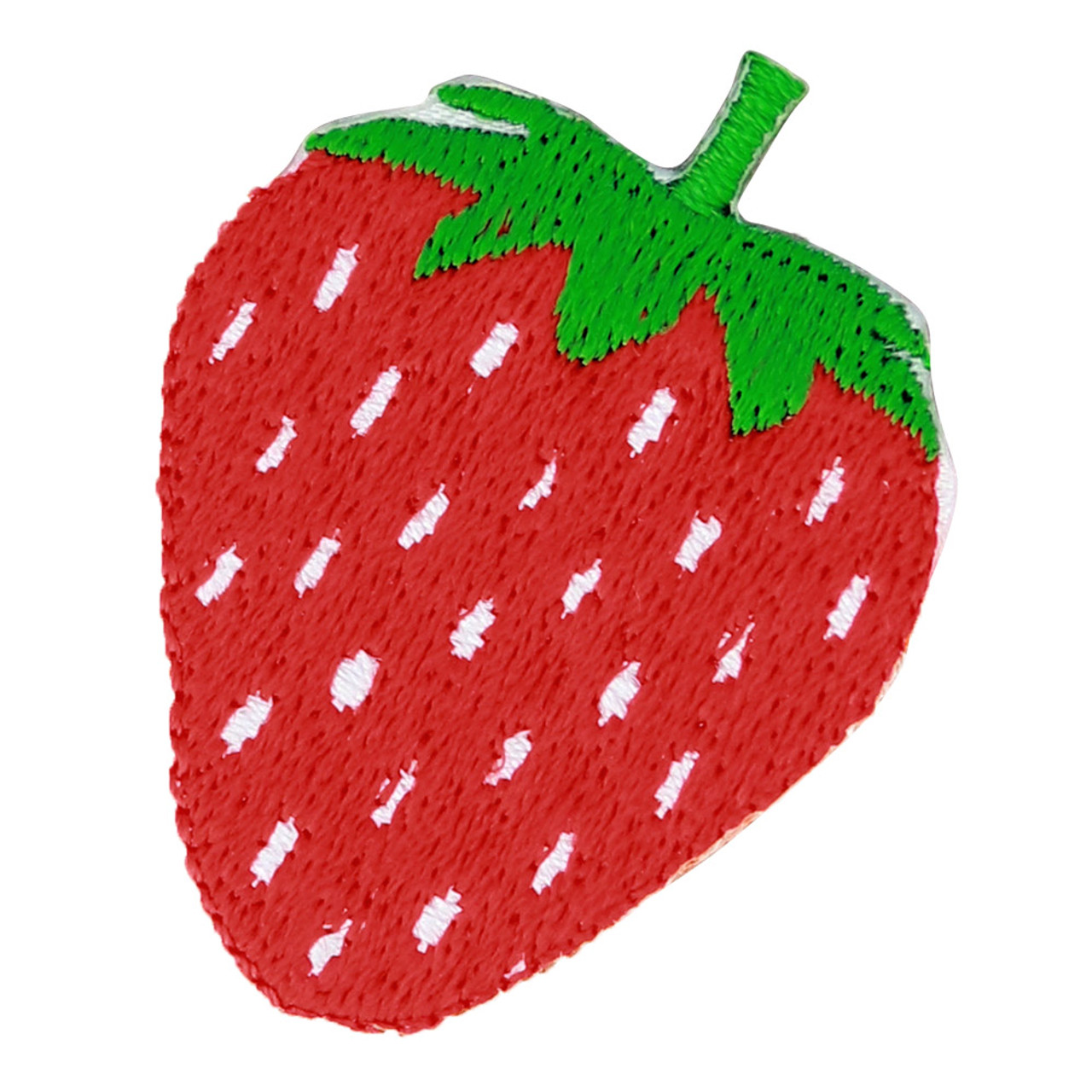 Kawaii Spring Season Strawberry Iron On Patch ( Front View )