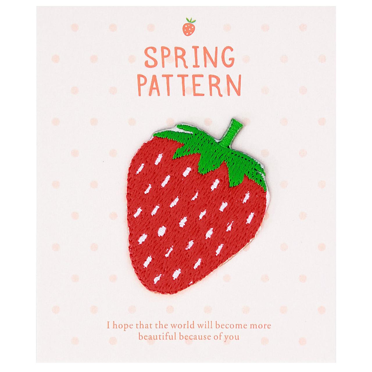 Kawaii Spring Season Strawberry Iron On Patch ( Cover )