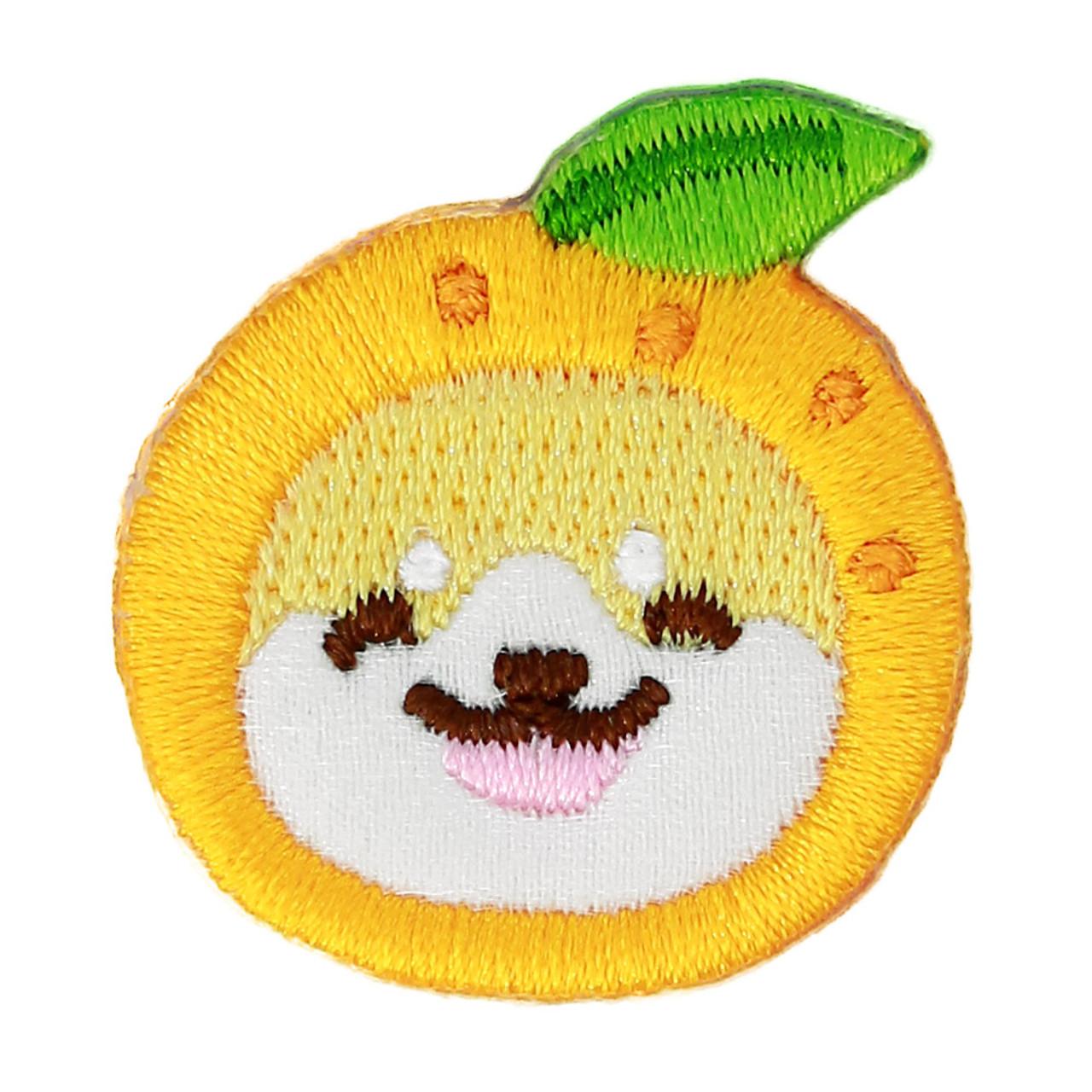 Kawaii Dog Shiba Inu Fruit Cosplay Iron On Patch ( Front View )