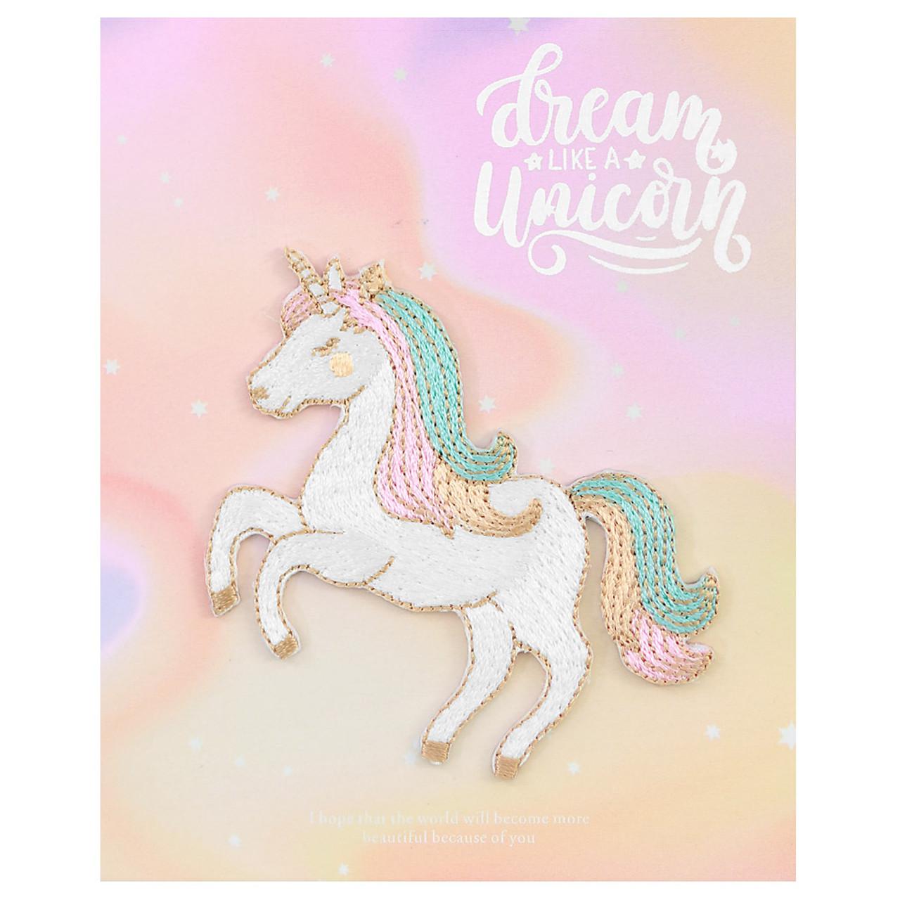Kawaii Fantasy Unicorn Iron On Patch ( Cover )