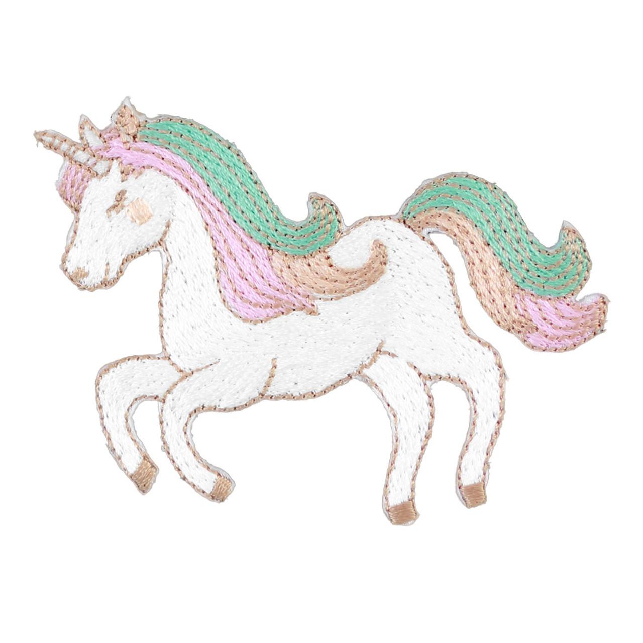 Kawaii Fantasy Unicorn Iron On Patch ( Front View )