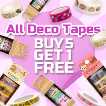 All Decoration Tape Buy 5 Get 1 Free