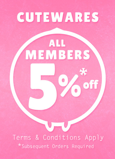 Cutewares All Members 5% off