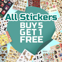 All Sticker Buy 5 Get 1 Free