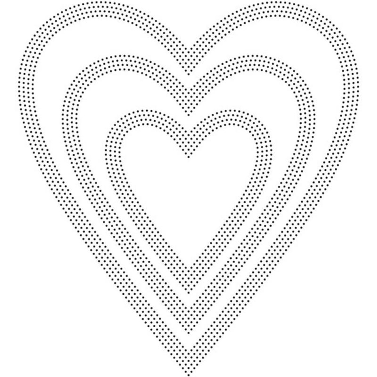 Poppystamps - Dies - Pinpoint Hearts