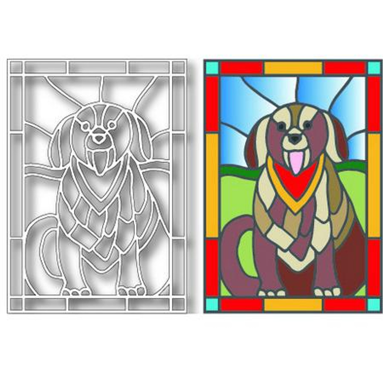 Tutti Designs - Dies - Dog Stained Glass
