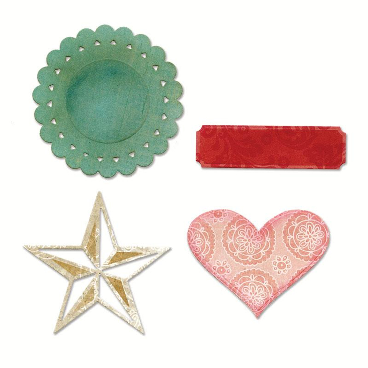 Sizzix Thinlits Die Set 4PK - Everyday Eclectic by Echo Park