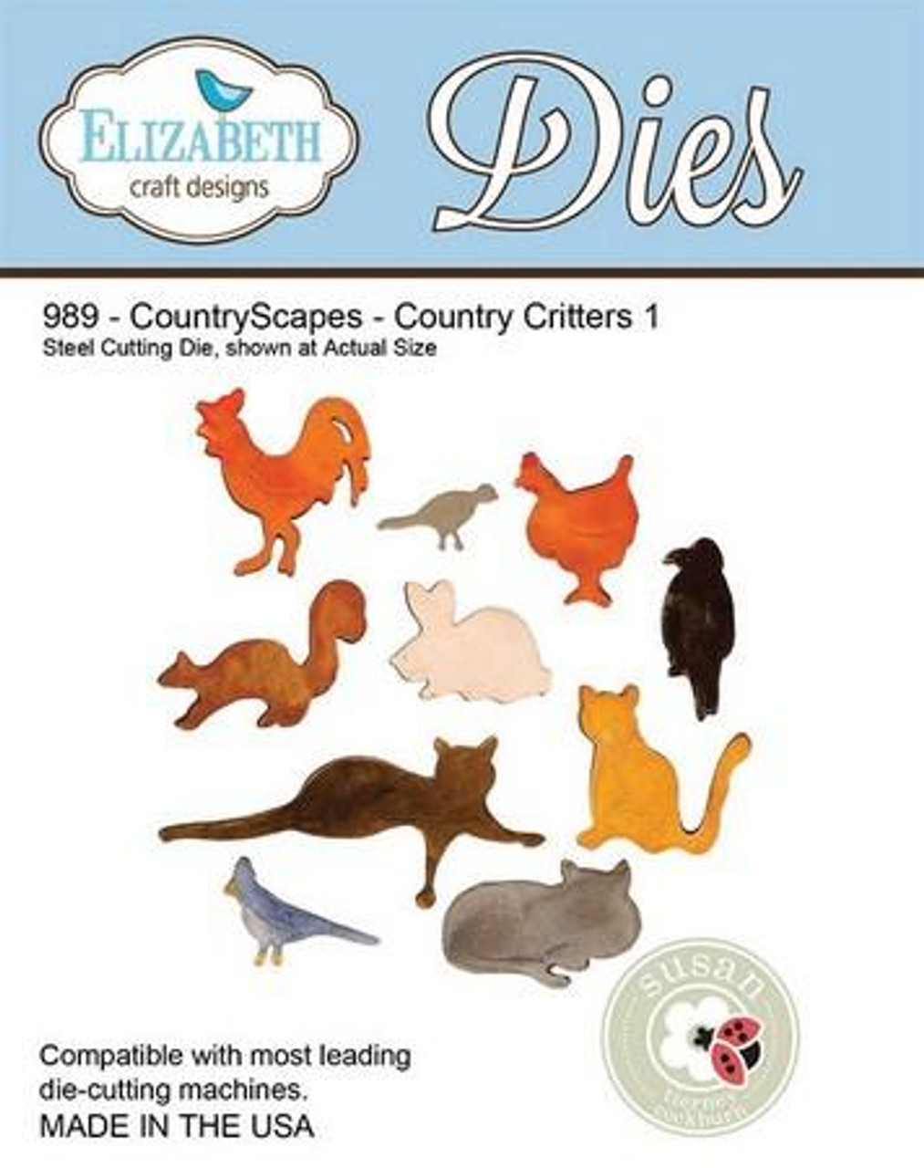 Elizabeth Craft Designs - CountryScapes - Country Critters 1
