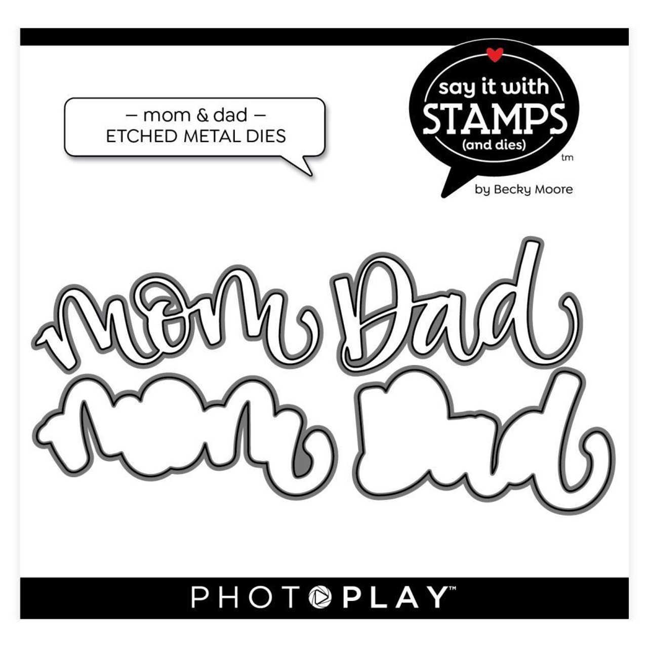 Photoplay - Dies - Mom/Dad