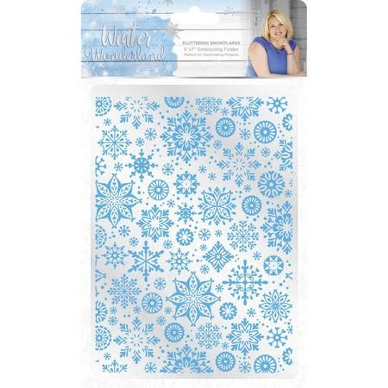 """Crafters Companion - Embossing Folder 5"""" x 7"""" - Fluttering Snowflakes"""