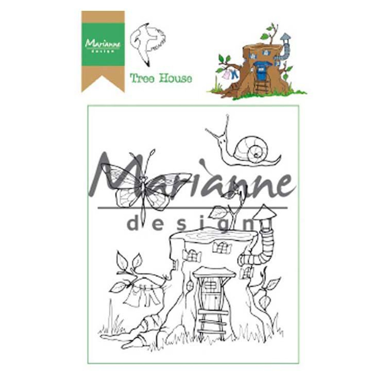 Marianne Design - Clear Stamps - Hetty's Tree House