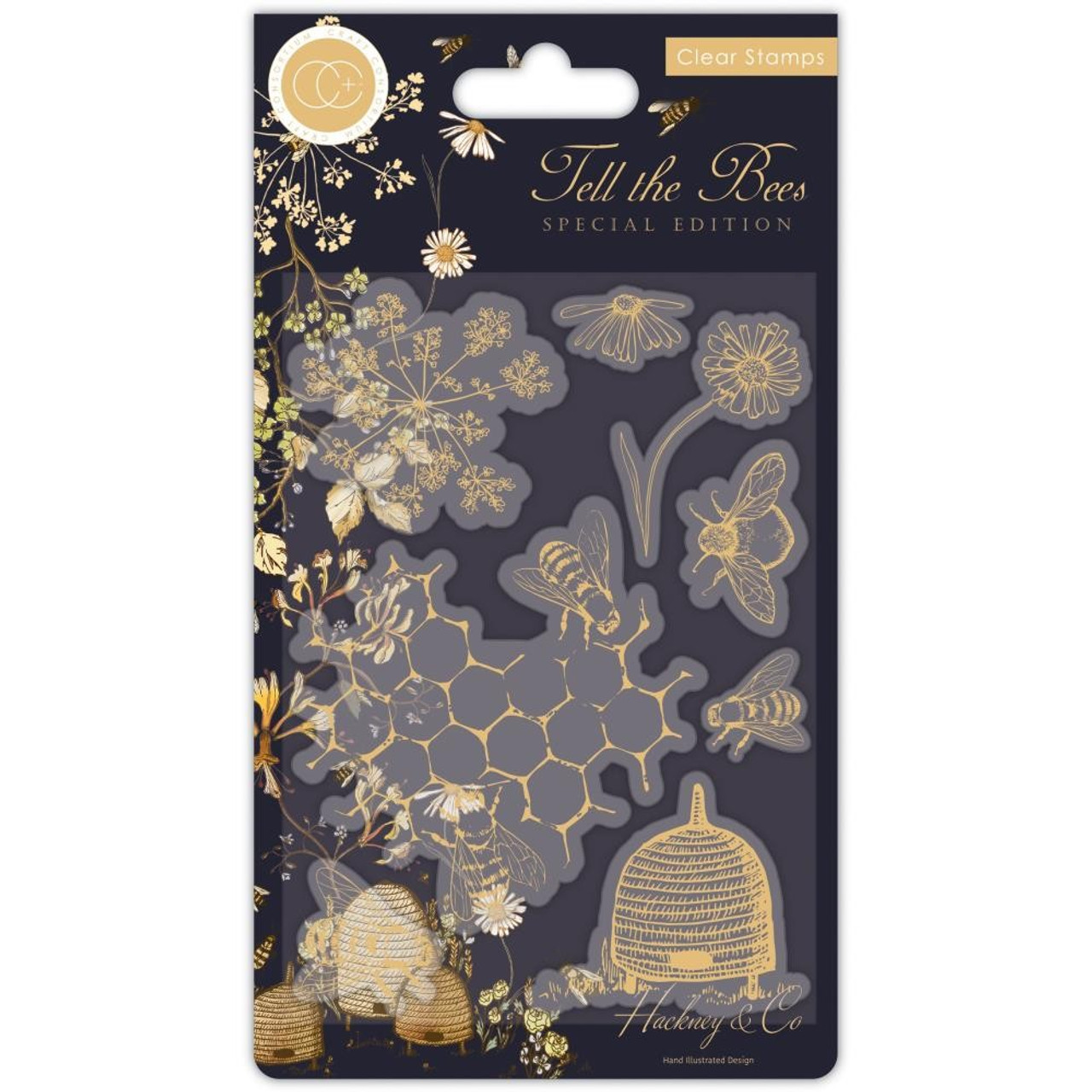 Craft Consortium - Clear Stamps - Tell The Bees - Special Edition