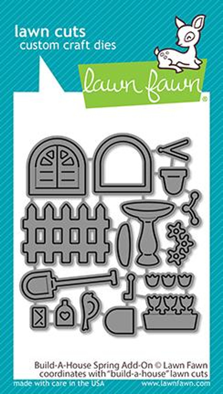 Lawn Fawn - Build A House Spring Add-On Dies