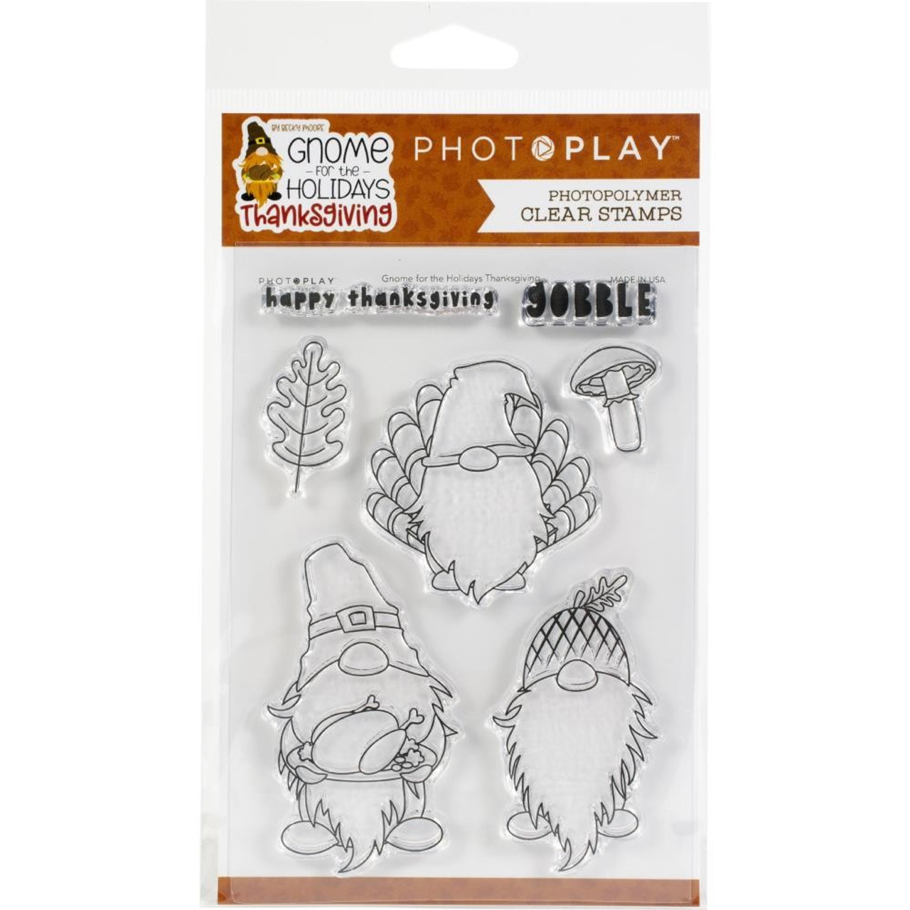 Photoplay - Clear Stamps - Gnome For Thanksgiving