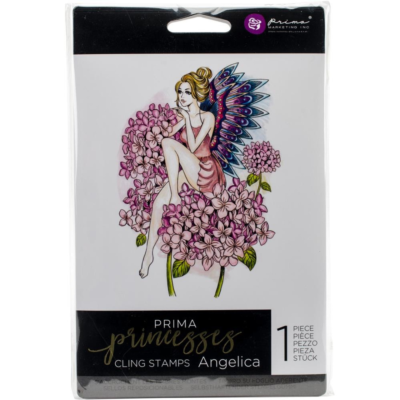 Prima Marketing - Cling Stamp - Angelica