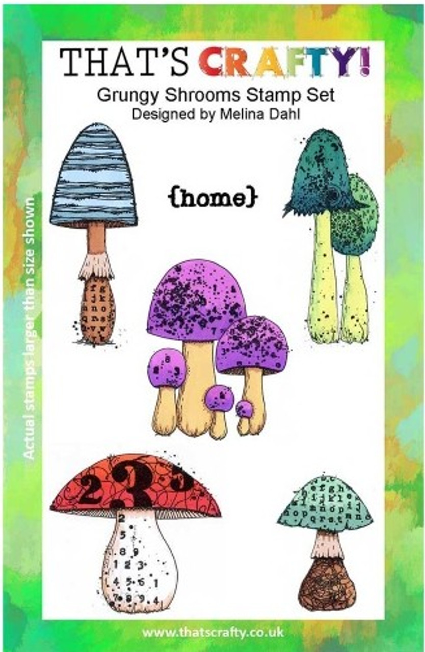 That's Crafty! - Clear Stamps Set - Grungy Shrooms